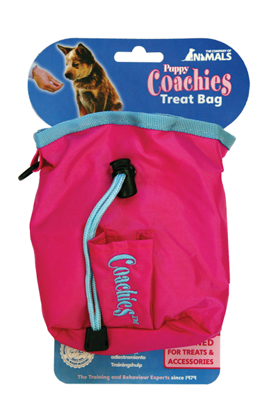 Coachies puppy Treat Bag Pink